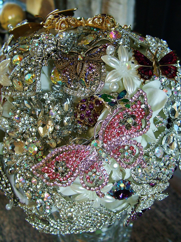PRICE Wedding brooch bouquet Bridal bouquet butterfly