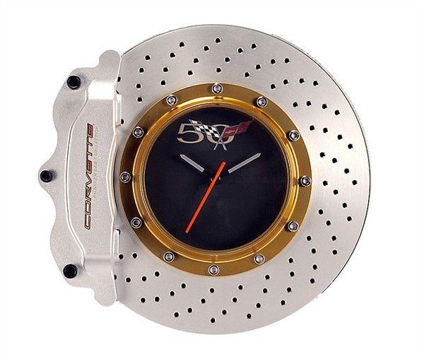 Corvette Brake Disc Wall Clock Marinha