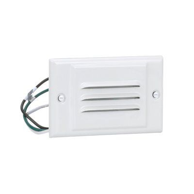 Nicor Lighting Horizontal Faceplate Step Light With Photocell
