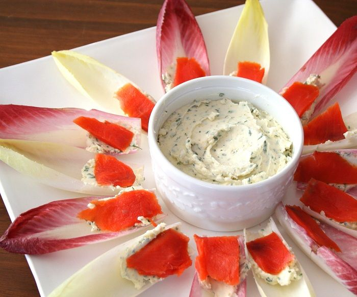 Endive with Boursin and Smoked Salmon | All Day I Dream About Food | Use this recipe for homemade Boursin