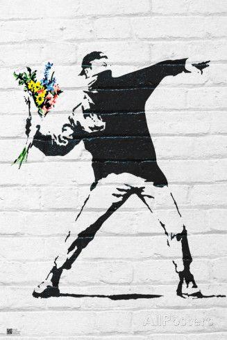 Flower Bomber Affiches par Banksy sur AllPosters.fr 60x90