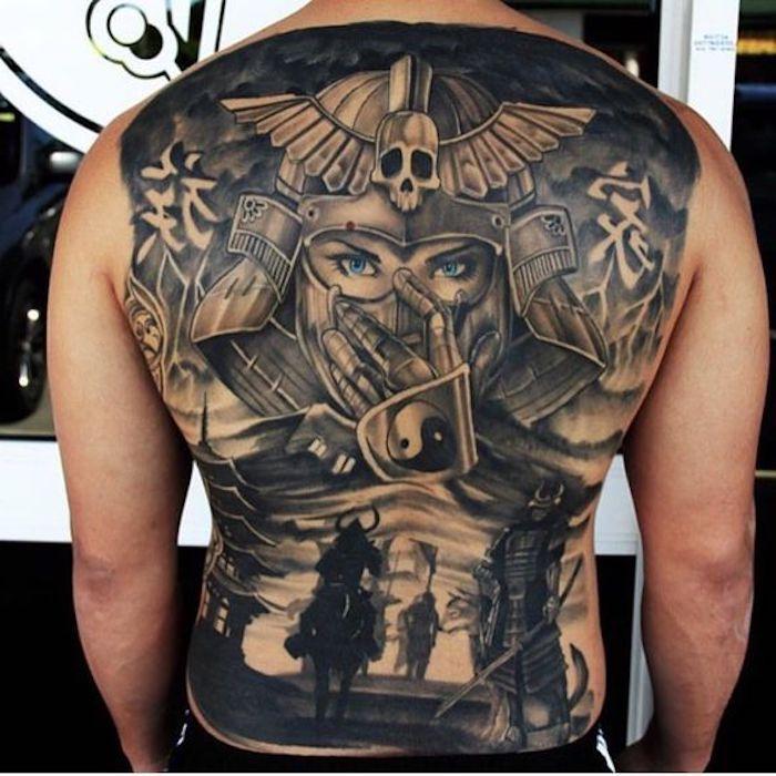 1001 coole und effektvolle samurai tattoo ideen tattoo. Black Bedroom Furniture Sets. Home Design Ideas