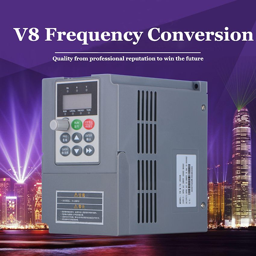 1pc V8 M 2s 1r5gb 1 5kw 220v Single Phase Input And 220v 3 Phase Output Mini Ac Motor Drive Frequency Converter Electrical Equipment Converter Frequencies