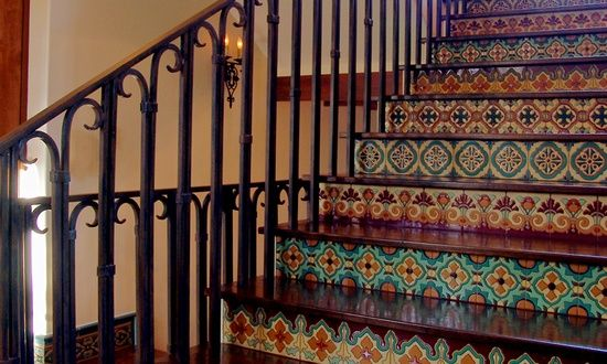 Beautiful Mexican Tiles On A Staircase Risers; Lovely!!