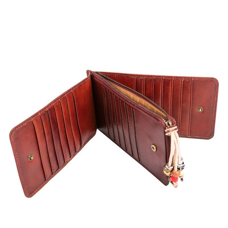 cartera monedero cuero para mujer genuine leather women/'s clutch wallet purse