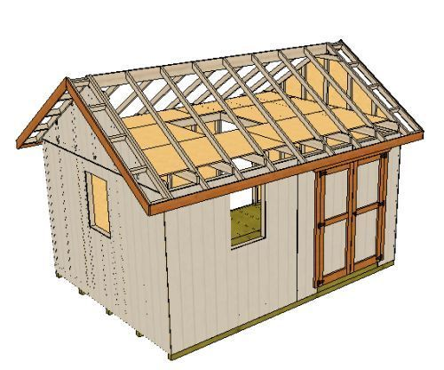 Building A Shed Loft Made Easy Shed With Loft 10x12 Shed Plans Shed Design