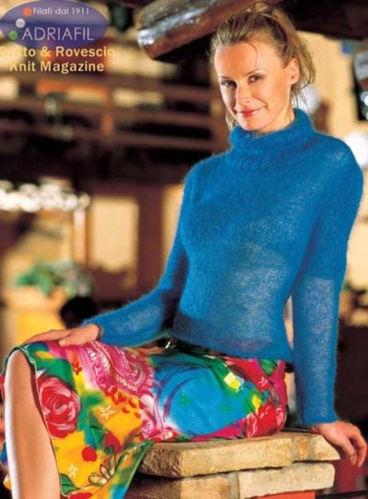 Violette Pullover In Adriafil Kid Mohair Free Knitting Pattern For