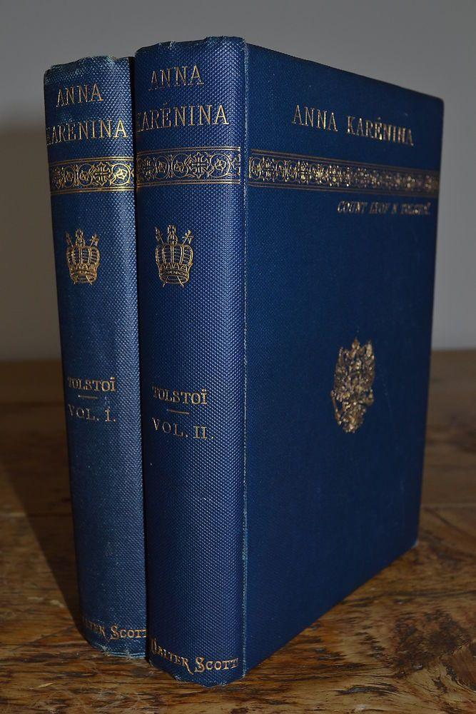 Anna Karenina Vol 1 2 Leo Tolstoy Tolstoi Walter Scott 1st Edition
