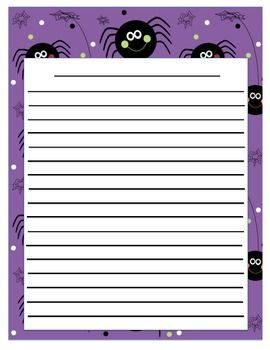 Soft image inside halloween stationery printable