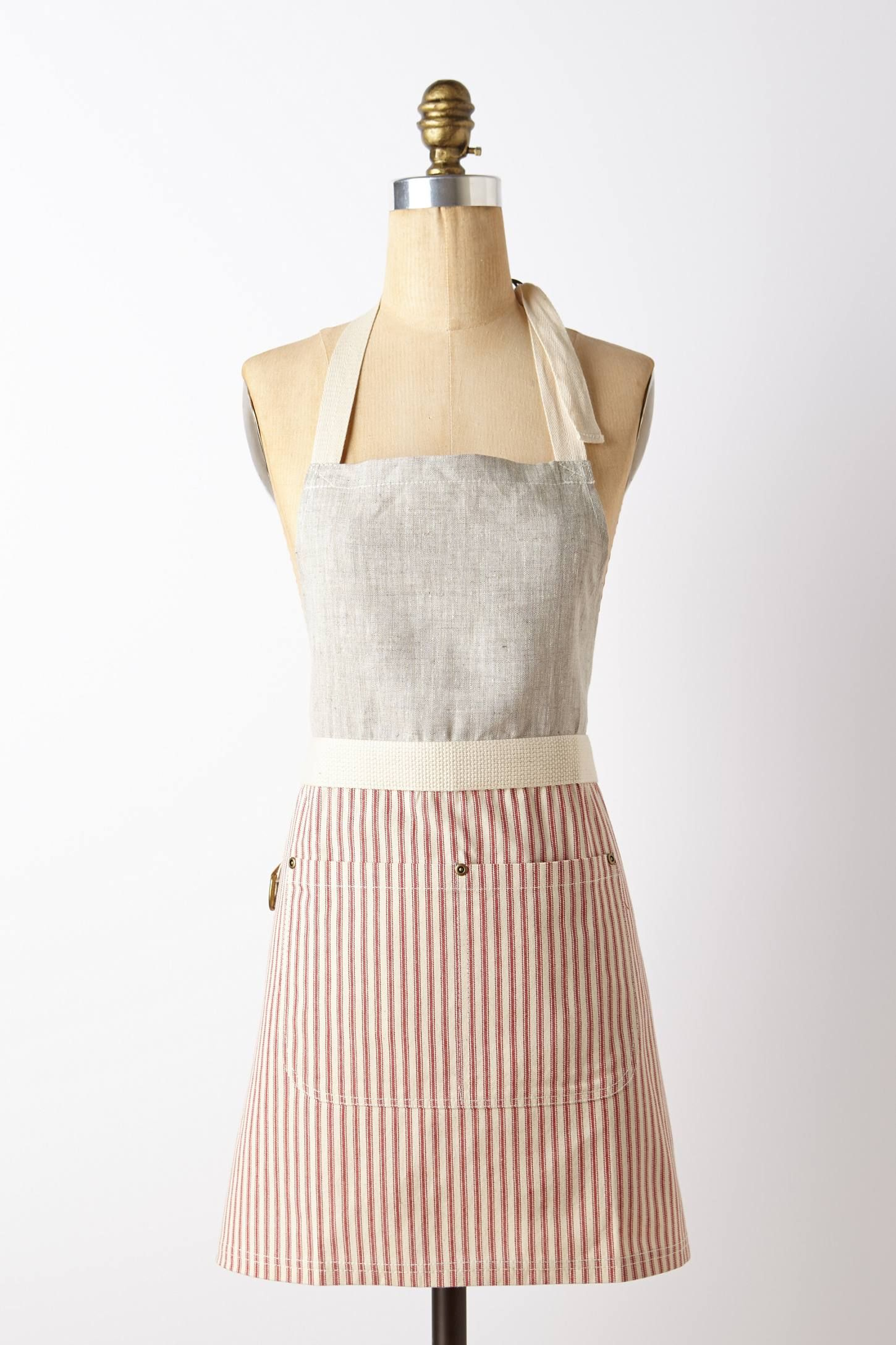 Breton apron in the kitchen for Anthropologie cuisine couture apron