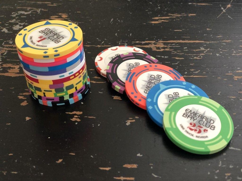 Emerald Bay Club Poker Chip Poker, Roulette, Jack black