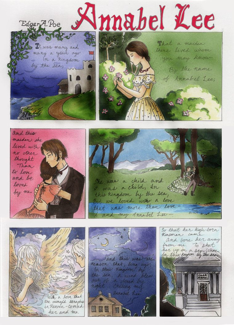 heres page based on edgar allen poe s poem annabel lee the  heres page 2 based on edgar allen poe s poem annabel lee the entire comic was