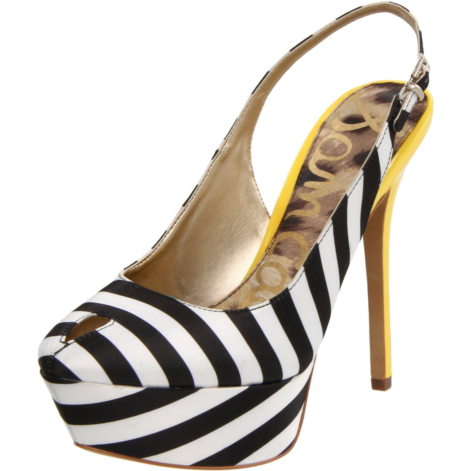 White black and yellow shoe obession pinterest shoe bag