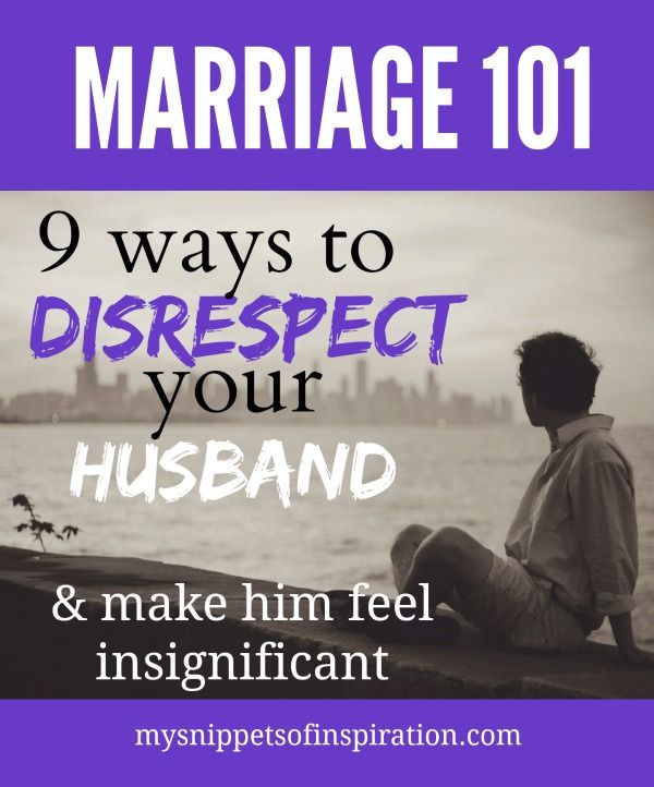 When A Wife Disrespects Her Husband