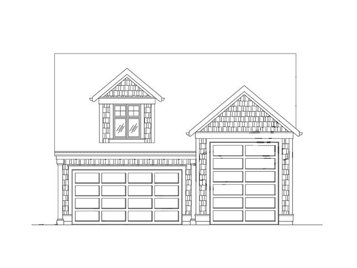 Garage with game room space above rv door plan 024g 0011 for Garage plans with shop space