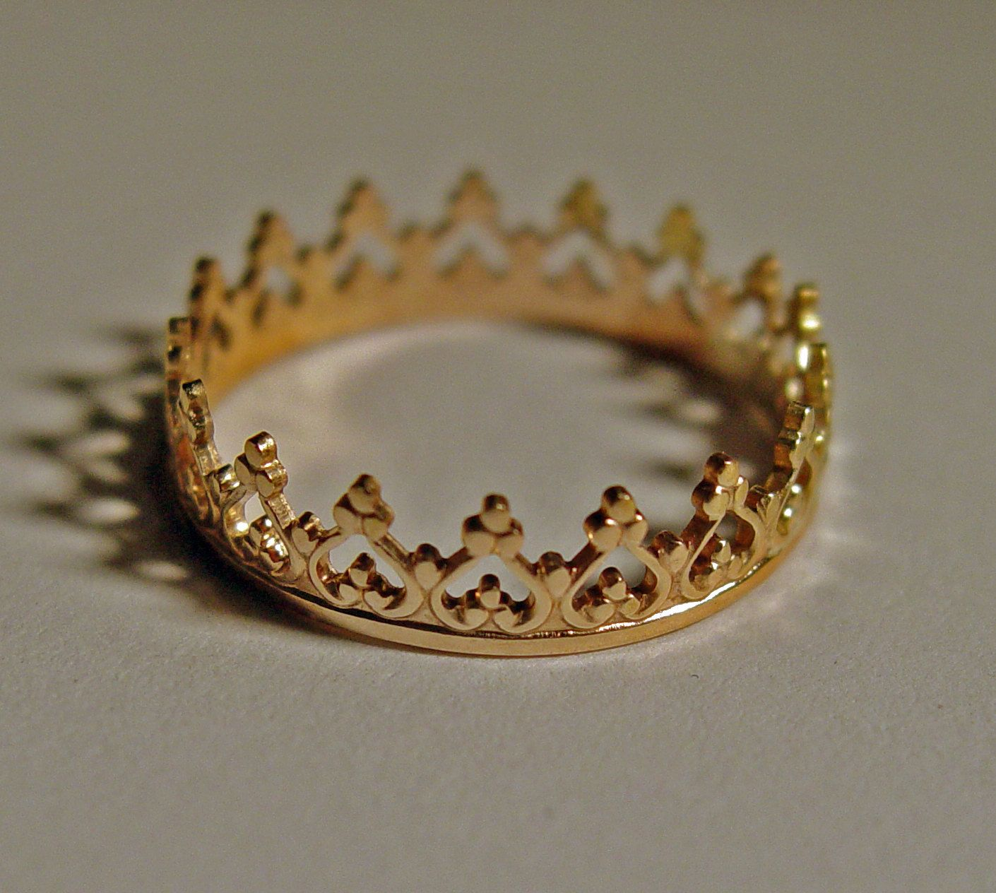 crown ring for princess 14ct gold custom size band metal