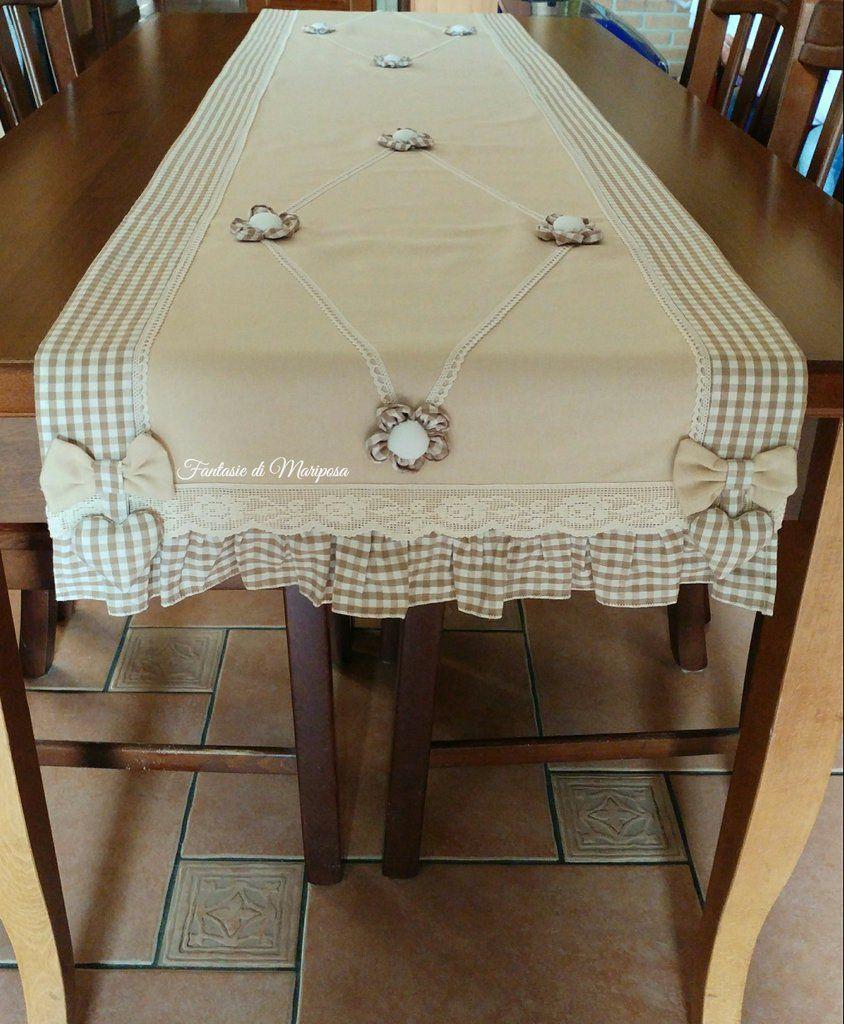 Runner per tavolo runner pinterest table table runners e table linens - Runner da tavolo ...