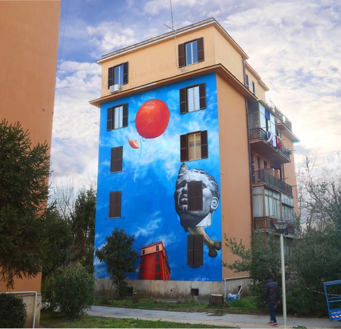 Gaia for Big City Life, curated by 999Contempory at Tor Mancia, Rome, Italy
