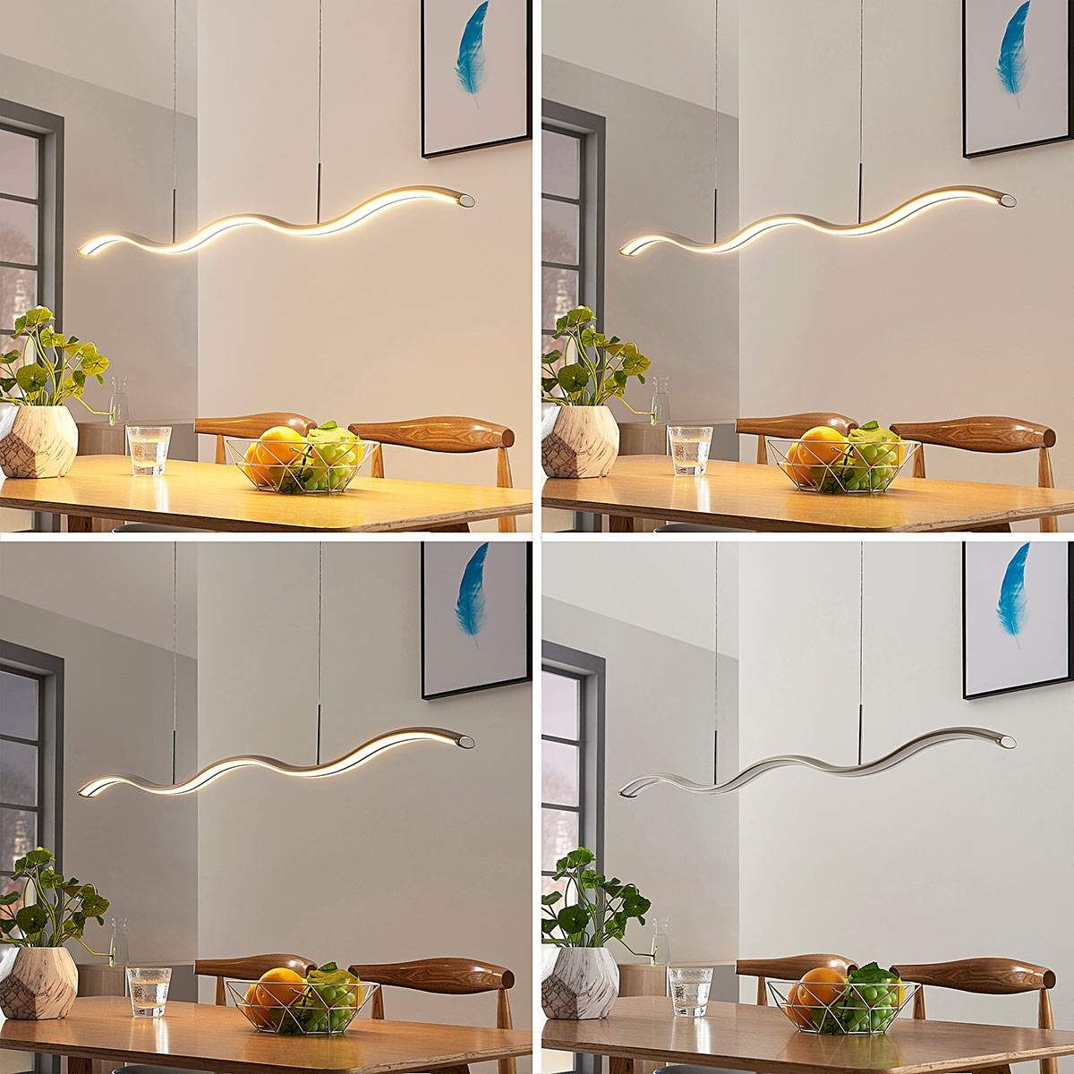 Moderne Pendel- und Hängeleuchten von Lampenwelt.com Grau  Led
