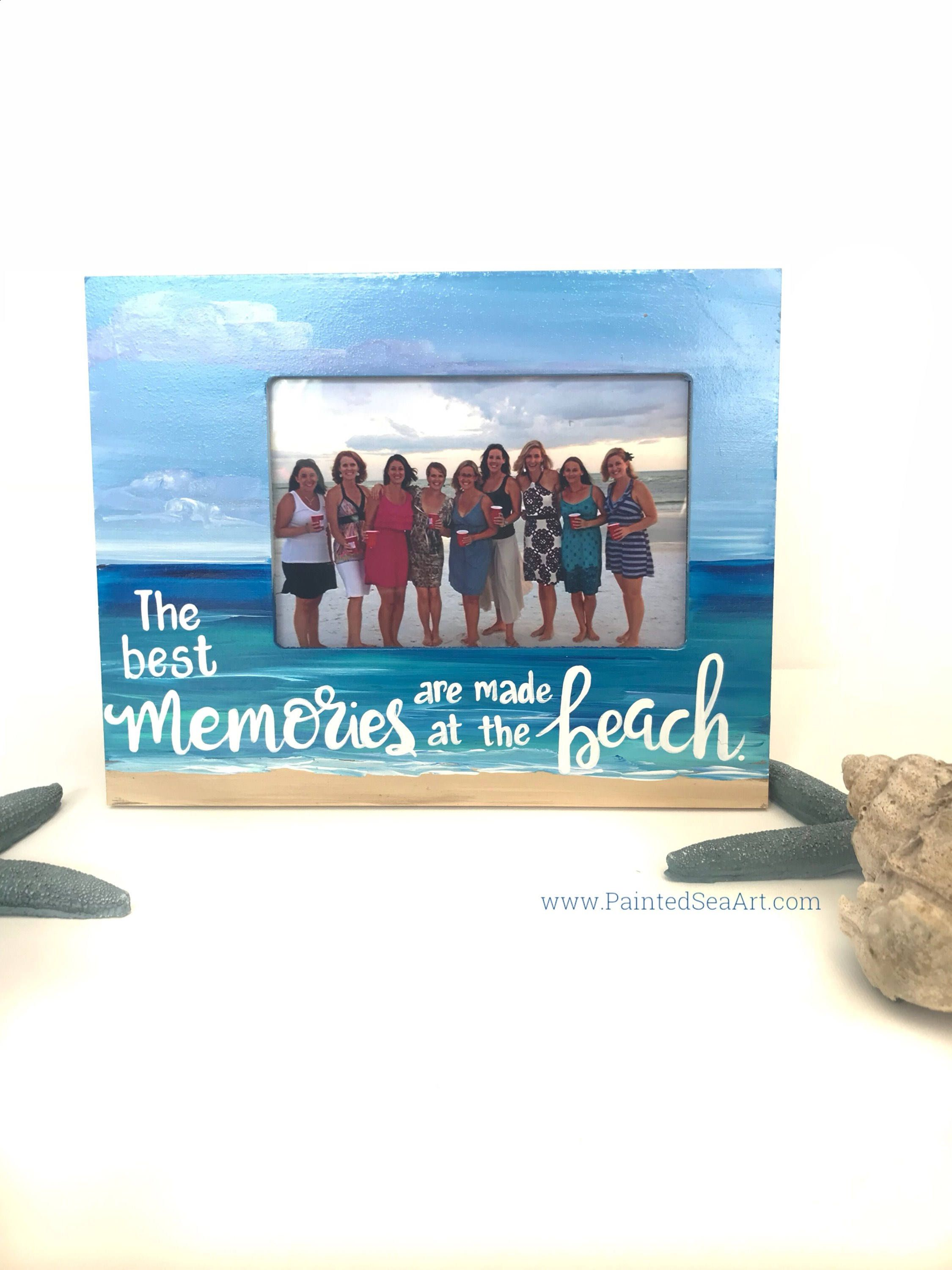 Beach picture frame memories photo frame ready to ship beach beach picture frame memories photo frame ready to ship beach frame personalized free jeuxipadfo Image collections