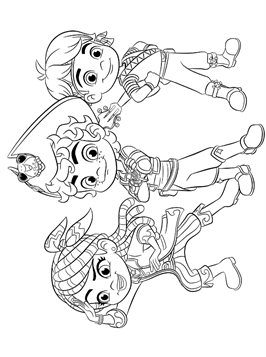Nice Coloring Page Santiago And His Crew On Kids N Fun Coloring Pages Cool Coloring Pages Fun Colors