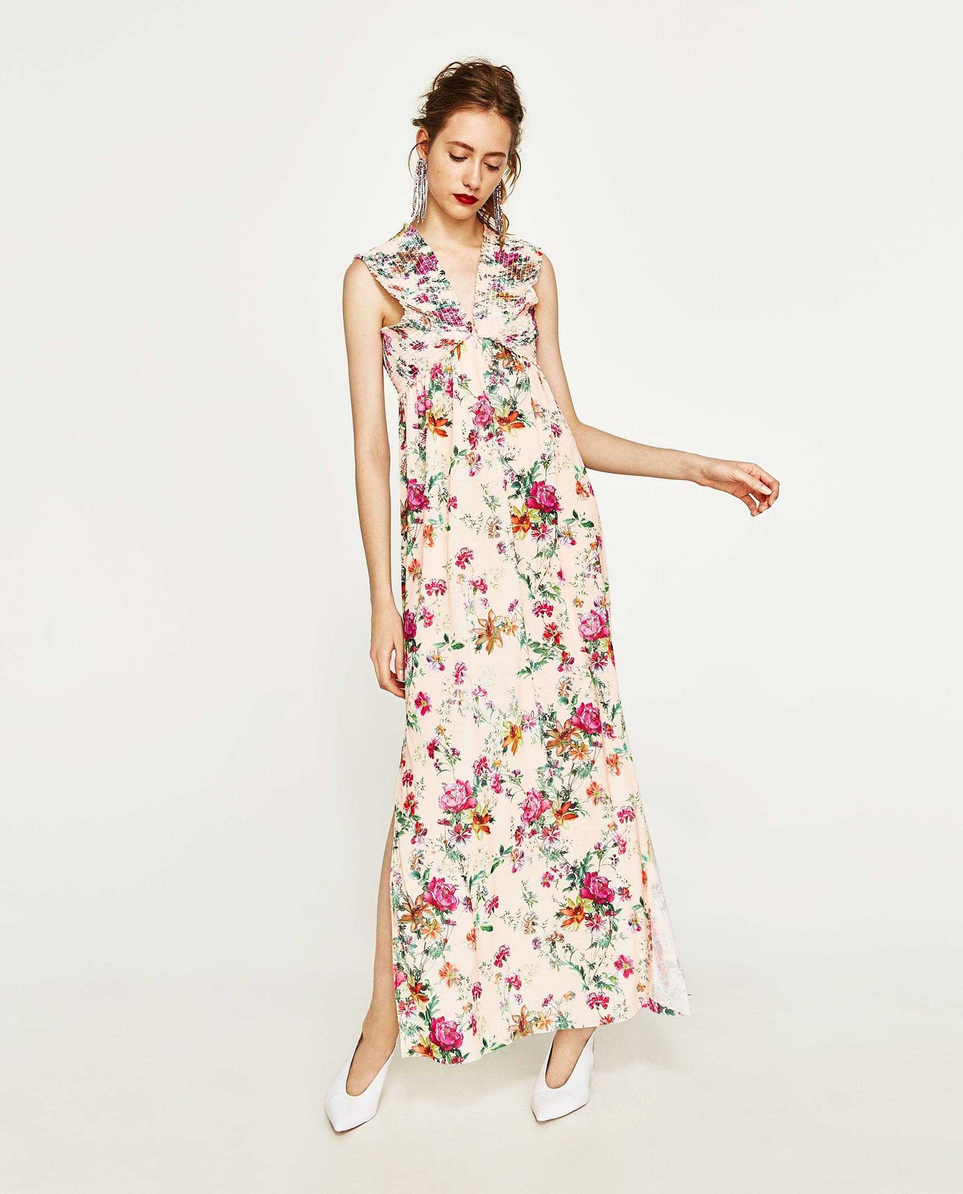 ZARA - WOMAN - LONG FLORAL PRINT DRESS  Kleider, Schöne kleider