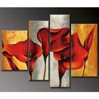 Tableau Peinture Fleur Contemporain Decoration Peinture Tableau