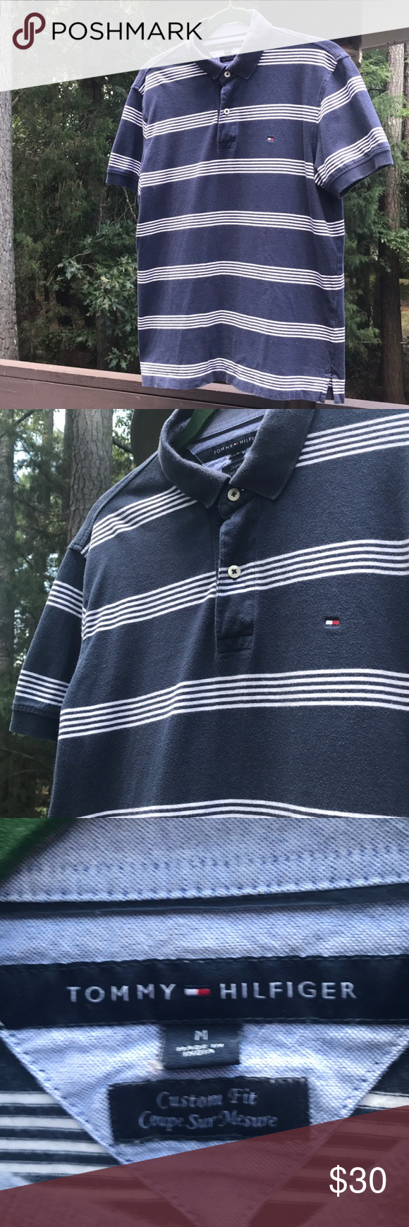f159bb293fae Vintage Tommy Hilfiger Polo Shirt Men's Vintage Tommy Hilfiger Striped Polo  Shirt. Excellent Condition.