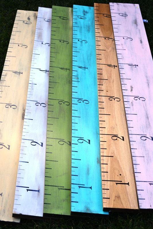 Oversized Ruler Growth Chart Non Personalized By Dollickdesigns