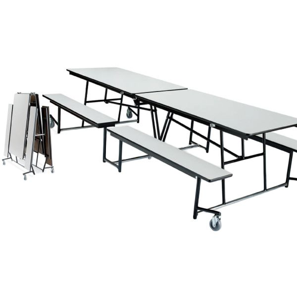Mobile Cafeteria Fixed Bench Tables Cafeteria Table Bench Table Cafeteria