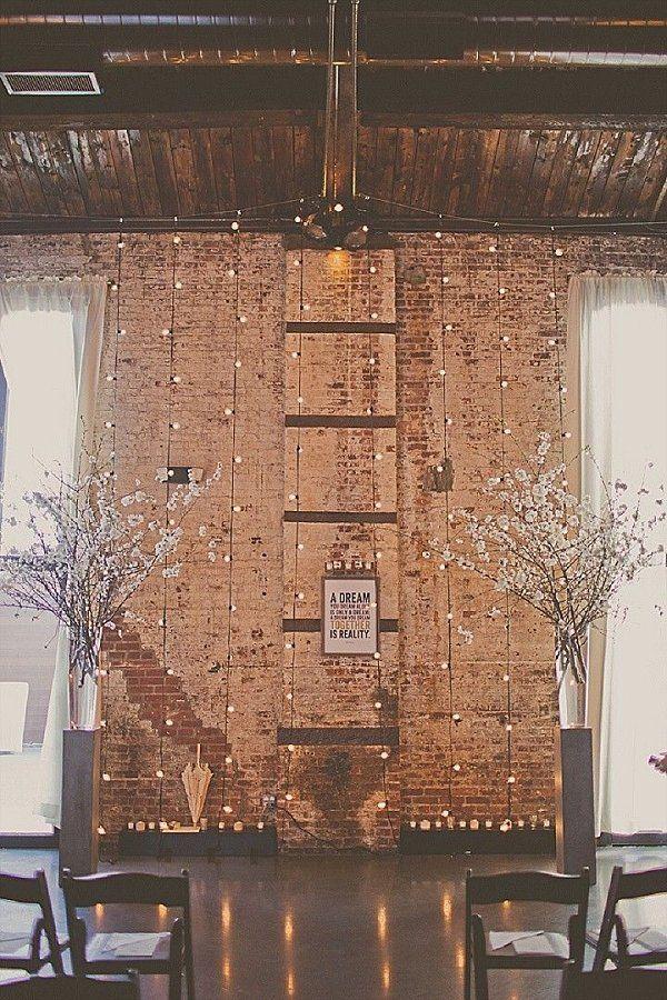 Rustic Industrial Indoor Wedding Backdrop Ideas Deerpearlflowers Ceremony Decor