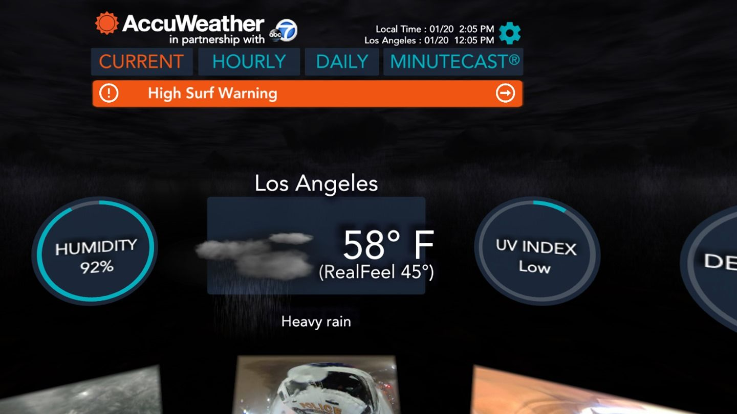 Accuweather Now Lets You Look At The Forecast In Virtual Reality Virtual Reality Reality Reality Check
