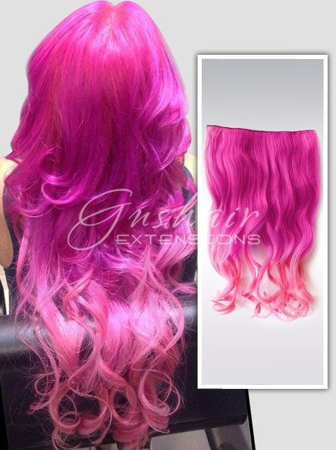 Boho Pink Ombre Wigscarnation Pink Hair Extensionsindian Remy Hair