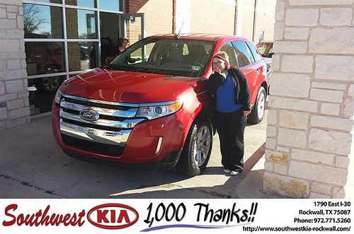 Southwest Kia Rockwall >> Thank you to Randi Trimuar on your new 2011 #Ford #Edge from James Adams and everyone at ...