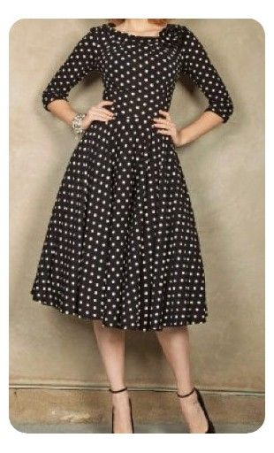 b4eab3bfc44 Womens plus size modest polka dot 3 4 sleeve fit and flare vintage evening  dresses are available in 2XL-6XL.  plussize  dresses