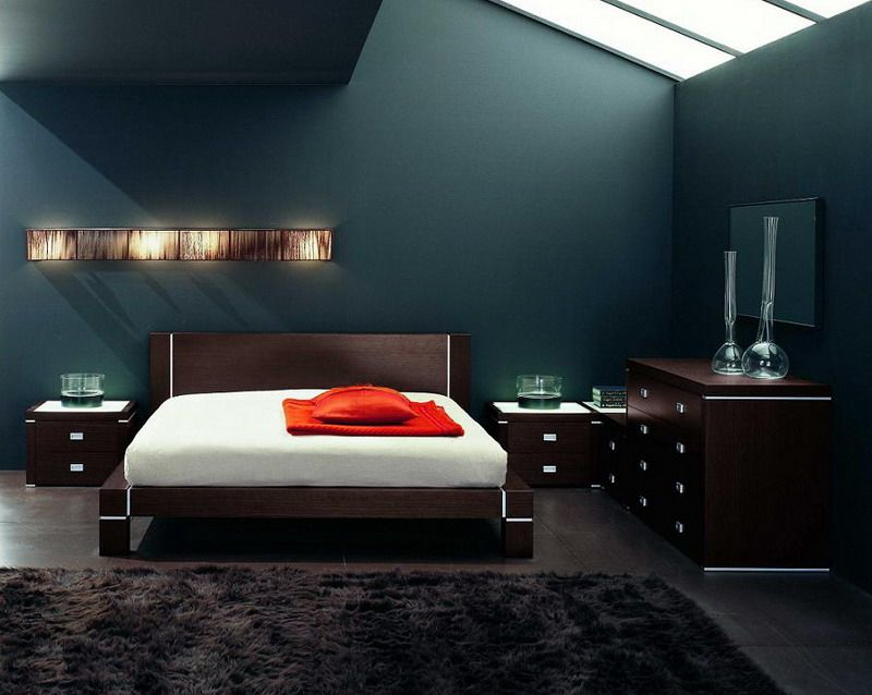 Men s bedroom decorating ideas minimalist platform for Mens bedroom themes