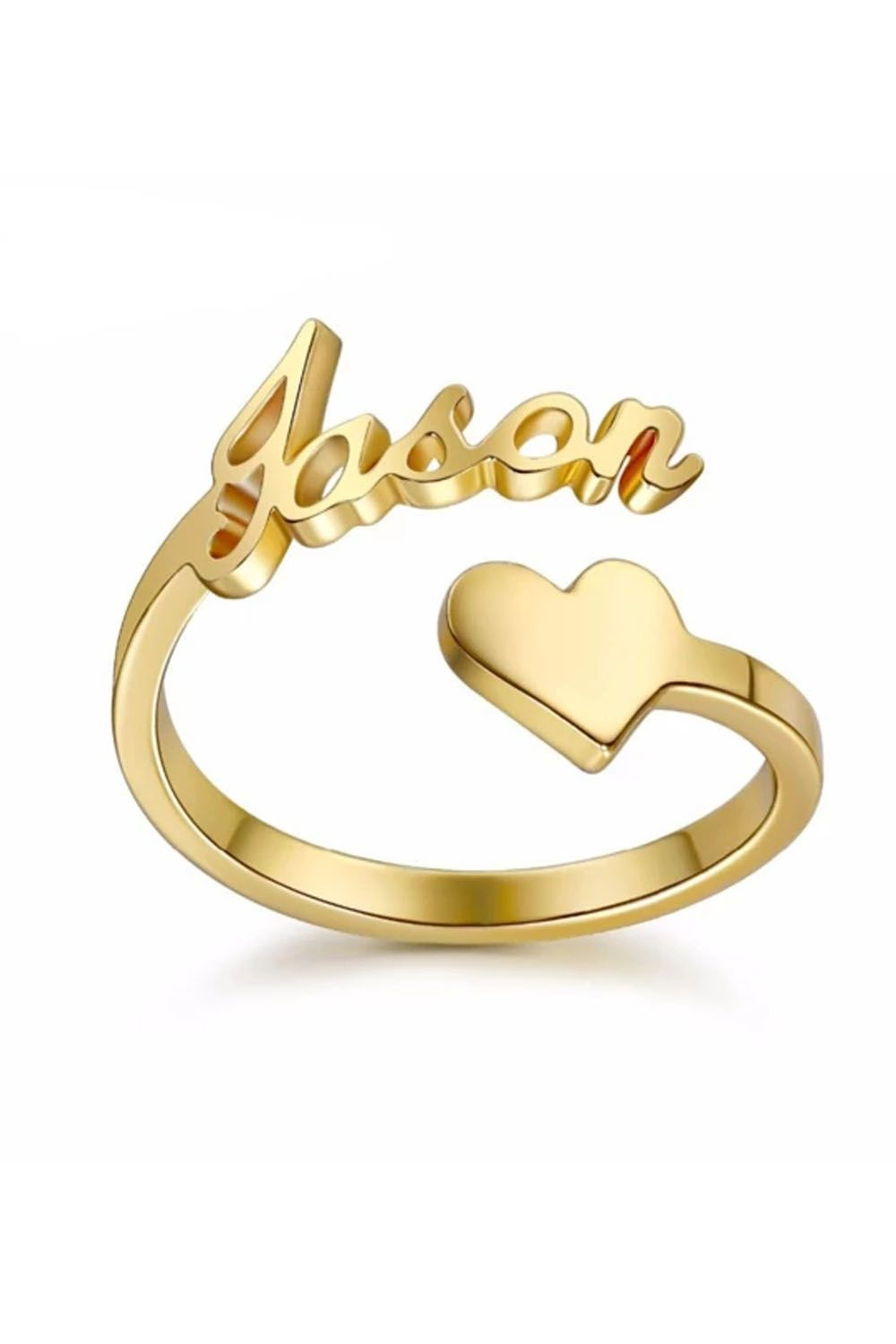 Minimalist Ring Initial Band Personalized Wrap Ring Ring for Lover Adjustable Custom Rings Couple Rings Personalized Name Ring
