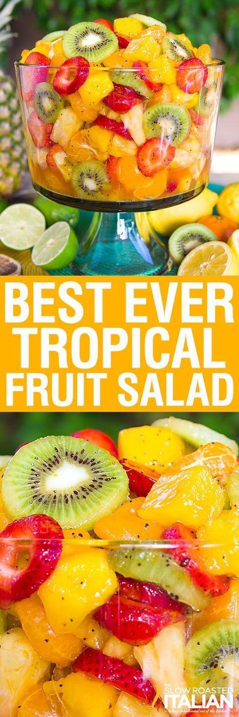 Best Ever Tropical Fruit Salad With Video Tropical Fruit Salad Recipe Fruit Salad Recipes Tropical Fruit Salad