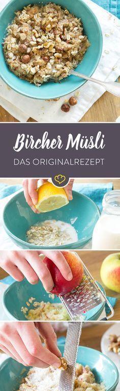 Fixes Frühstück: So mischen Sie ein original Bircher Müsli   - kohlenhydratfreie rezepte -
