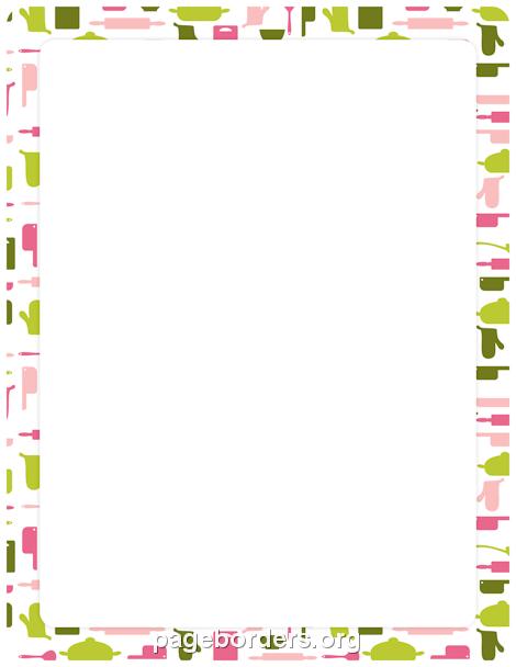 Cooking Border | Ενδιαφέροντα | Page borders, Printable ...