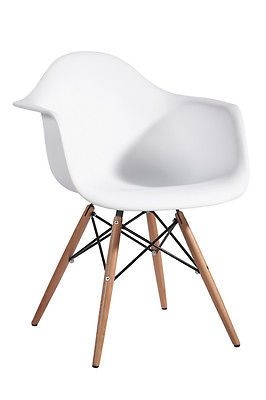 Magnificent Details About Set Of 2 Eames Style Dsw White Plastic Shell Pdpeps Interior Chair Design Pdpepsorg