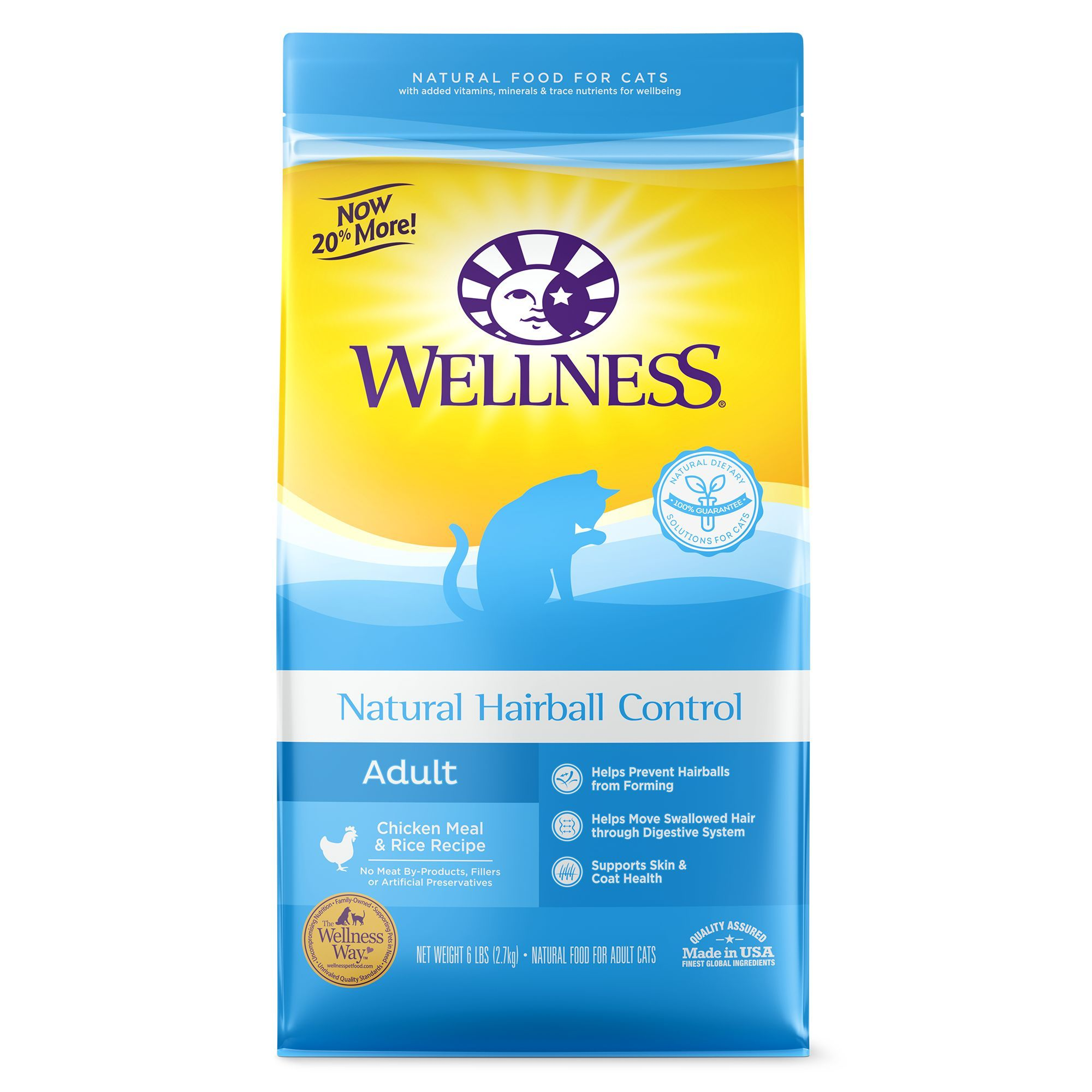 Wellness Natural Hairball Control Adult Cat Food Natural