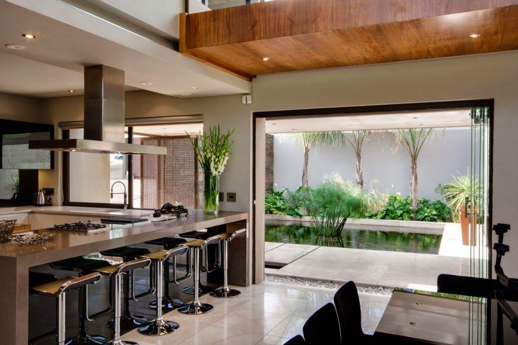Bancada cozinha gourmet americana 1 024 682 pixeles for Casa moderna americana