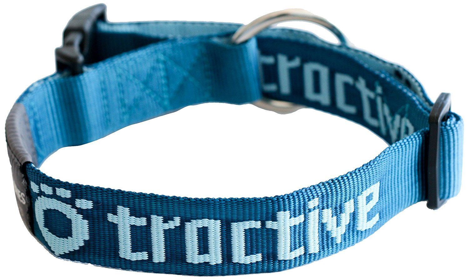 Tractive Dog Collar with Safety Interlock Buckle, Large
