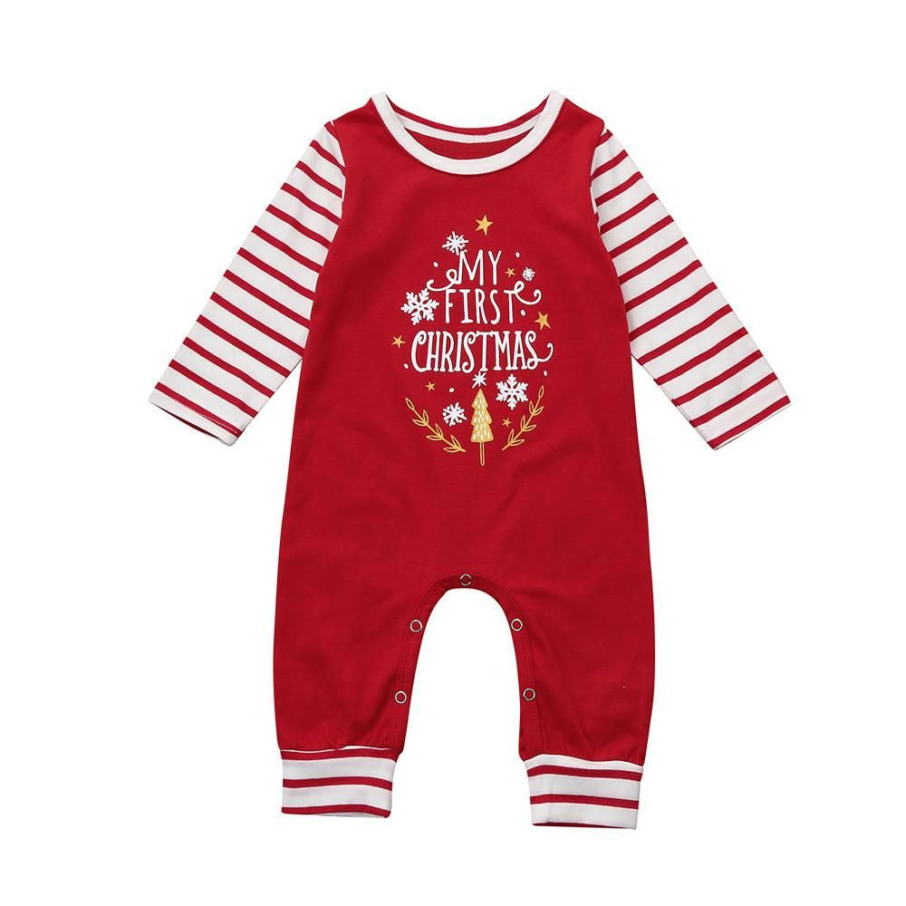 Gender neutral Christmas Holiday Baby Romper Baby First Christmas Outfit Baby Boy Clothes