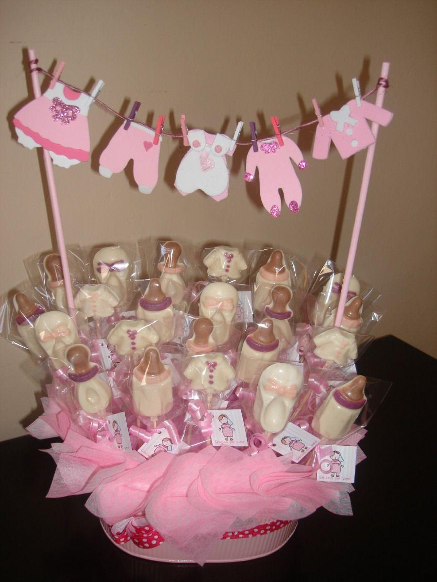 Centros de mesa para bautizo o baby shower for Mesa de dulces para bautizo de nina