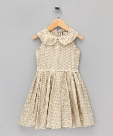 Beige Prtint Baby Hepburn Dress - Toddler & Girls  by La Faute a Voltaire on #zulilyUK today!