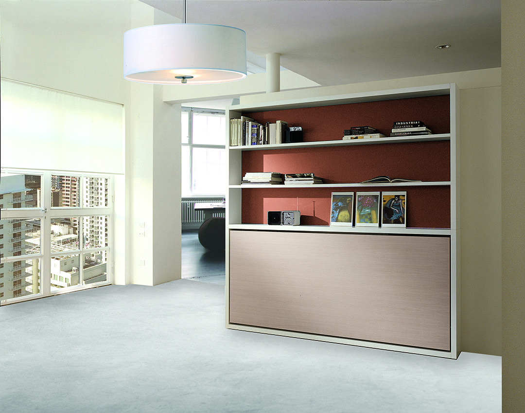 Horizontal Murphy Bed with Desk Kali Board Resource