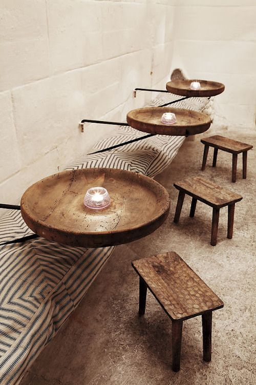 a701a220f162a2 Table de nuit par exemple. Love the tables. There are so different, yet  original.
