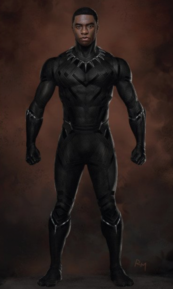 Details On Black Panther S Costume In Civil War With Concept Art And Action Packed Audi Promo Clip Geektyrant Black Panther Costume Black Panther Art Black Panther Marvel